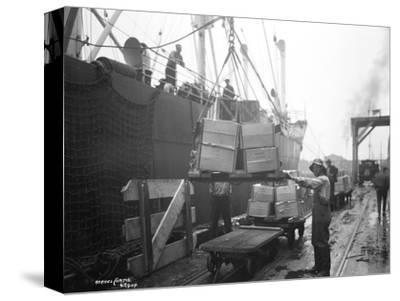 Loading Apple Cargo at Dock, Seattle, 1921