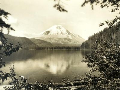 Mount St. Helens From Spirit Lake, 1923