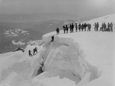 Mountain Climbers Ascending Mount Baker, 1908