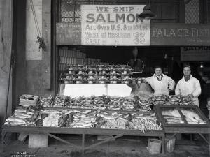 Palace Fish Market, Seattle, 1925 by Asahel Curtis