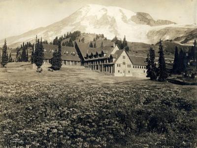 Paradise Inn and Mount Rainier, 1916