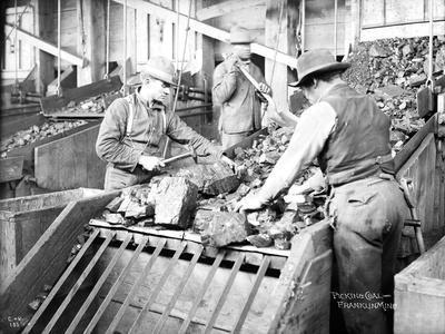 Picking Coal, Franklin Mine, Circa 1902