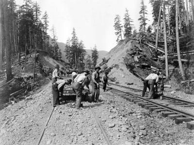 Railroad Workers, Circa 1919 by Asahel Curtis