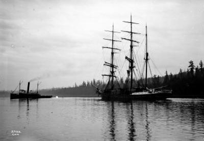 Schooner in Bay, Circa 1912