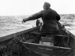 Setting the Line From Dory, Alaska Coast, Undated by Asahel Curtis