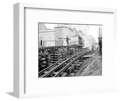 Tracks at 3rd and Madison, Seattle, 1907