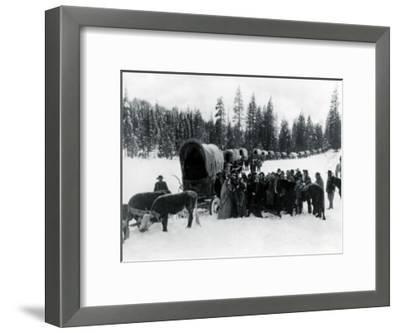 Wagon Party in Snow, 1935