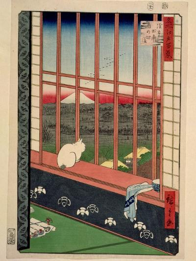 Asakusa Rice Fields During the Festival of the Cock, C.1857-Ando Hiroshige-Giclee Print