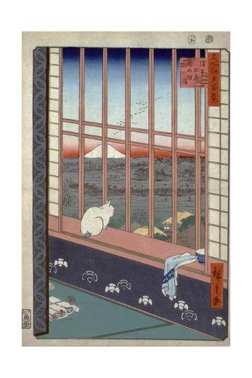 Asakusa Ricefields and Torinomachi Festival-Ando Hiroshige-Giclee Print