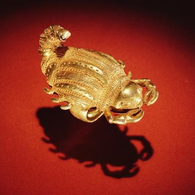 Asante Scorpion Ring, from Ghana (Gold)- African-Giclee Print
