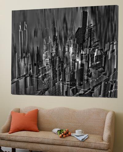 Asbtract City Scene III-Jean-Fran?ois Dupuis-Loft Art
