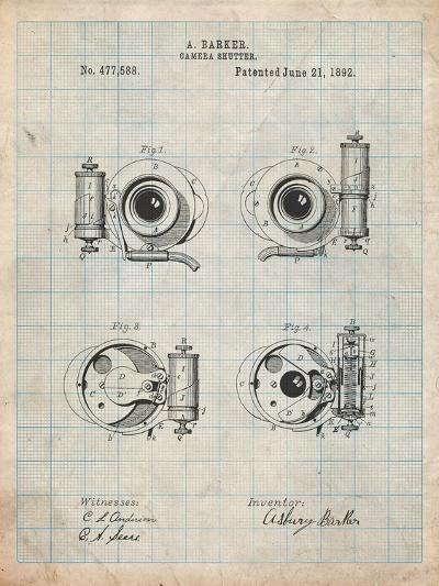 Asbury Frictionless Camera Shutter Patent-Cole Borders-Art Print