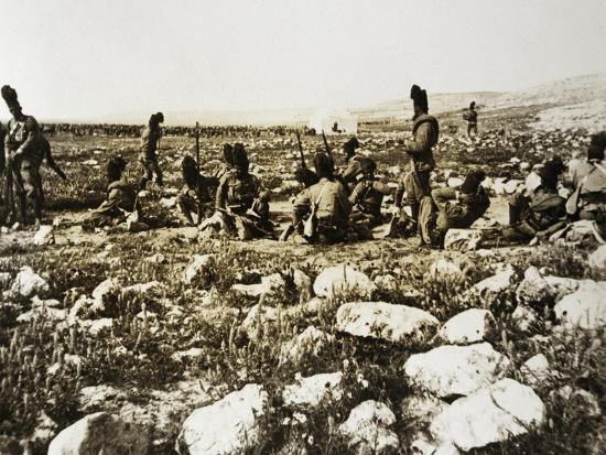 Ascari Camp in Sidi Ibrahim El Muscase, Cyrenaica--Giclee Print