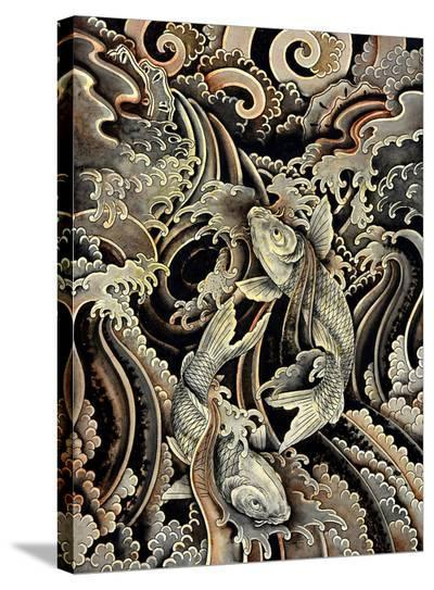 Ascending Koi's-Clark North-Stretched Canvas Print