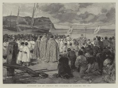 Ascension Day at Etretat, the Ceremony of Blessing the Sea-Oswaldo Tofani-Giclee Print