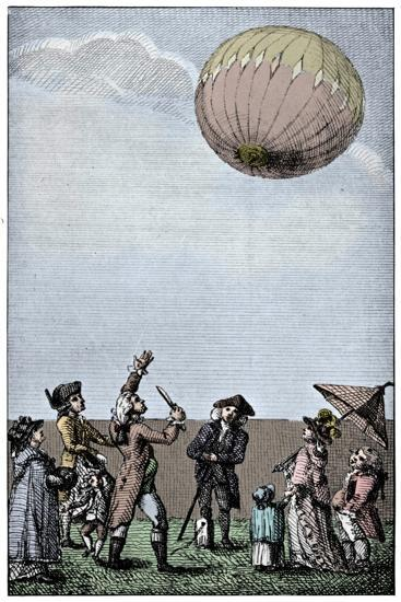 Ascension of a Montgolfier balloon, late 18th century, (1910)-Unknown-Giclee Print
