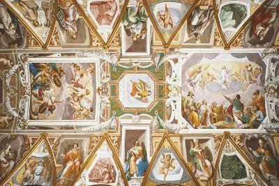Ascension of Christ and Assumption of Virgin, Figures of Saints, Angels and Small Biblical Scenes--Giclee Print