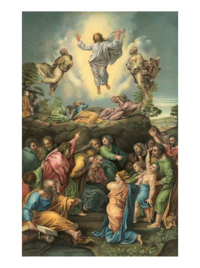 Ascension of Jesus into Heaven--Art Print
