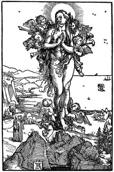 Ascension of Maria Magdalena, 1507-1510-Albrecht Durer-Giclee Print