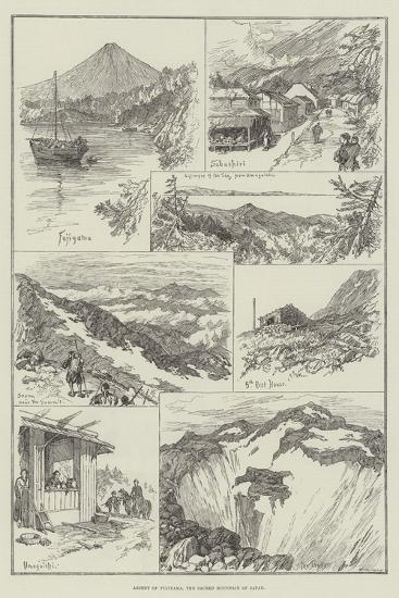 Ascent of Fujiyama, the Sacred Mountain of Japan--Giclee Print
