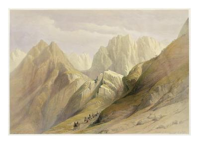 Ascent of the Lower Range of Sinai, February 18th 1839, Plate 114-David Roberts-Giclee Print