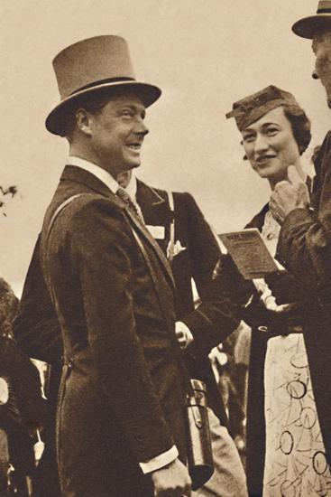 'Ascot, June, 1935 - King Edward, then Prince of Wales, with Mrs. Simpson', 1937-Unknown-Photographic Print