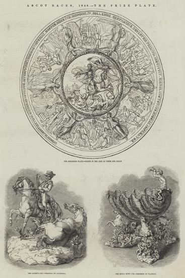 Ascot Races, 1848, the Prize Plate--Giclee Print