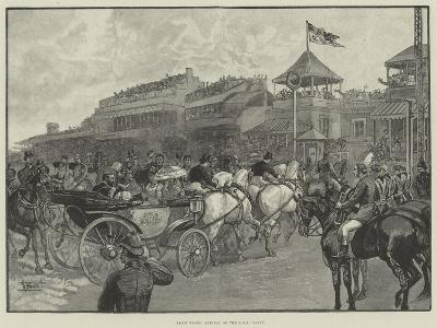Ascot Races, Arrival of the Royal Party--Giclee Print