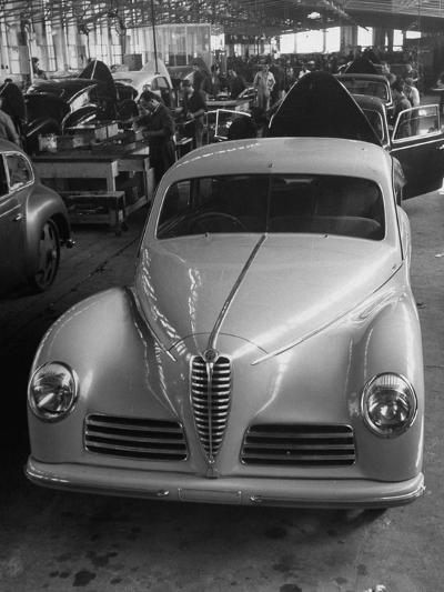 Asembly Line of Alfa Romeo Cars--Photographic Print