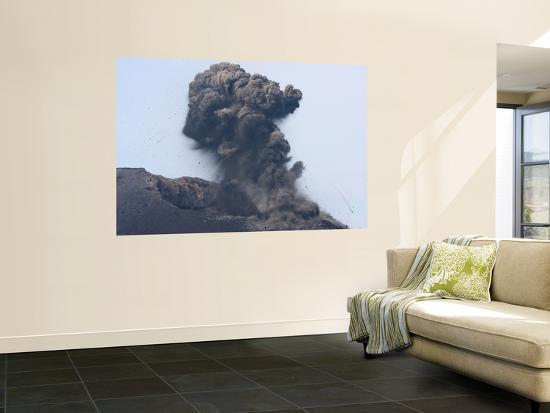 Ash Cloud from Vulcanian Eruption of Anak Krakatau Volcano, Sunda Strait, Java, Indonesia-Stocktrek Images-Wall Mural