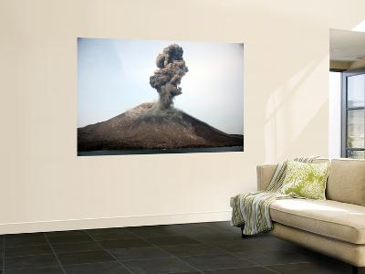Ash Cloud from Vulcanian Eruption of Anak Krakatau Volcano, Sunda Strait, Java, Indonesia-Stocktrek Images-Wall Mural