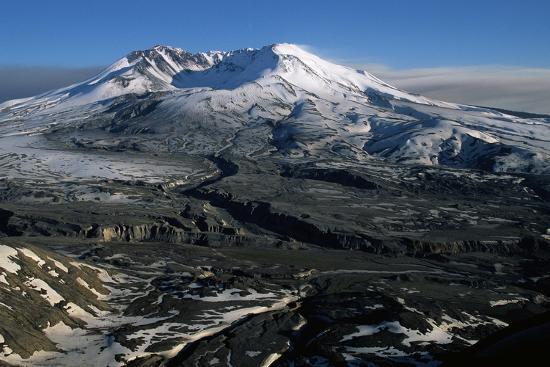 Ash Filled Valley Near Mount St. Helens-Paul Souders-Photographic Print
