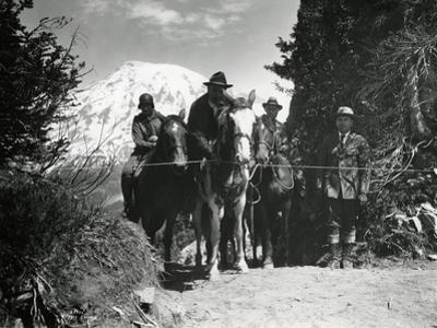 Dedication of Mount Rainier National Park Horse Trail, July 9, 1931 by Ashael Curtis