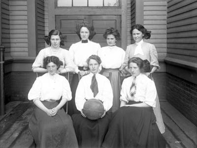 Girls' Basketball Team, Central School, Seattle (May 1909)