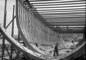 Nilson and Kelez Shipbuilding Yards in Seattle, 1916 by Ashael Curtis