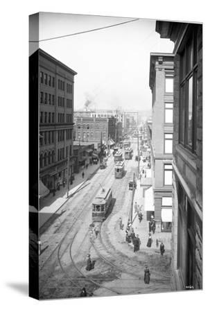 Pike Street from Second Avenue, Seattle, 1908