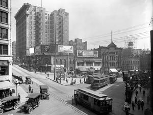Second Avenue and Yesler Way, Seattle, 1916 by Ashael Curtis