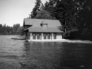 Thornewood Castle Boathouse, Lakewood, WA, 1916 by Ashael Curtis