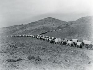 Wagon Train - Oregon Trail Wagon Train Reenactment, 1935 by Ashael Curtis