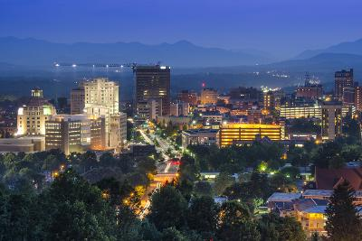 Asheville, North Carolina, USA at Twilight.-SeanPavonePhoto-Photographic Print
