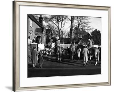 Ashford Valley Hunt Meet--Framed Photographic Print
