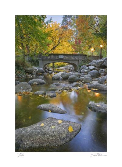 Ashland Creek in Fall-Donald Paulson-Giclee Print