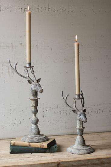 Ashland Stag Candleholder Pair *--Home Accessories