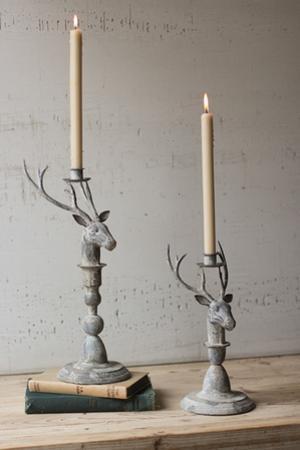 Ashland Stag Candleholder Pair *