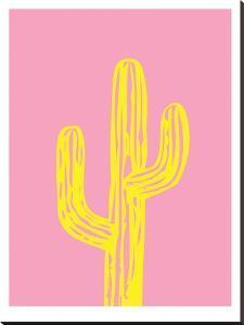 Cactus on Pink by Ashlee Rae