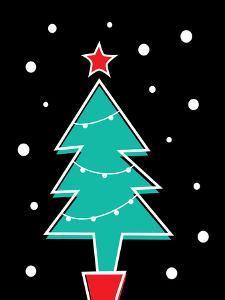Christmas Tree Print by Ashlee Rae