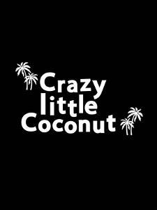 Crazy Little Coconut on Black by Ashlee Rae