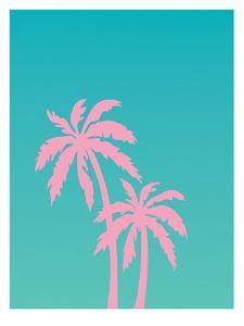 Pink Palm Tree by Ashlee Rae