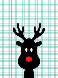 Reindeer Christmas Print by Ashlee Rae