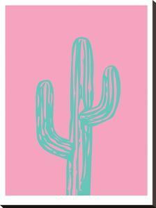 Teal Cactus by Ashlee Rae
